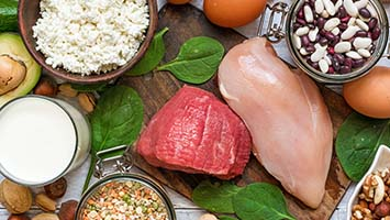 رژیم پر پروتئین عضله جرم عضلانی متابولیسم بالا کاهش وزن