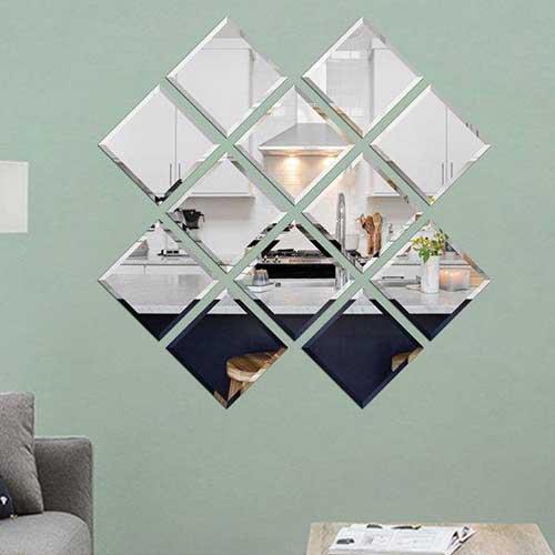 آینه دکوراتیو سایان هوم مدل مربع 021