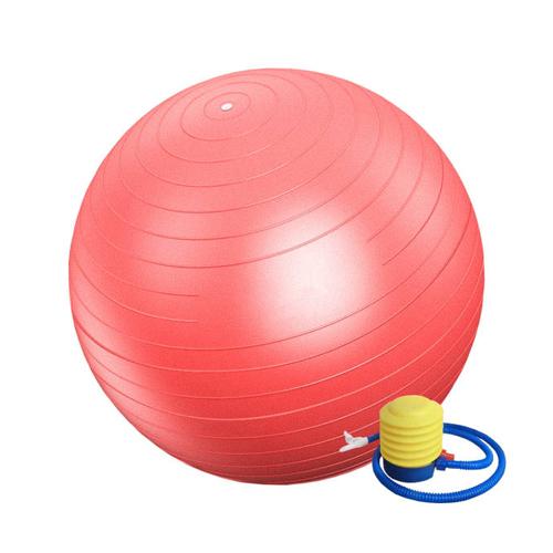 توپ بدنسازی مدل GYM BALL قطر 55 سانتی متر به همراه پمپ هوا و دستبند پاور بالانس